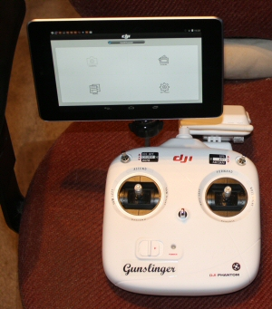 The TX with the Nexus installed.  There is much more adjustment to the angle and position than you'll ever really need