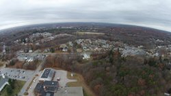 This is North School from 200' up.  The shot is facing Covell Platt, taken in late Autumn 2013.