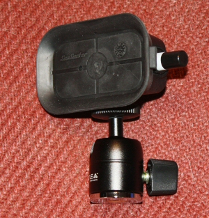 This is the Seasucker suction device coupled with the Nootle adjustable mount.