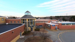 This is the new section of the Seekonk Middle School from 50' up.